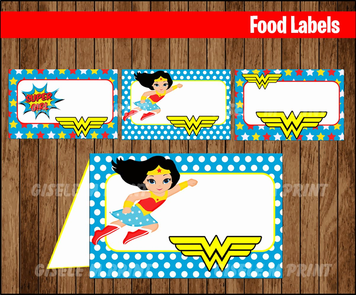 Wonder Woman Invitation Template Awesome Wonder Woman Birthday Invitation Template First Birthday