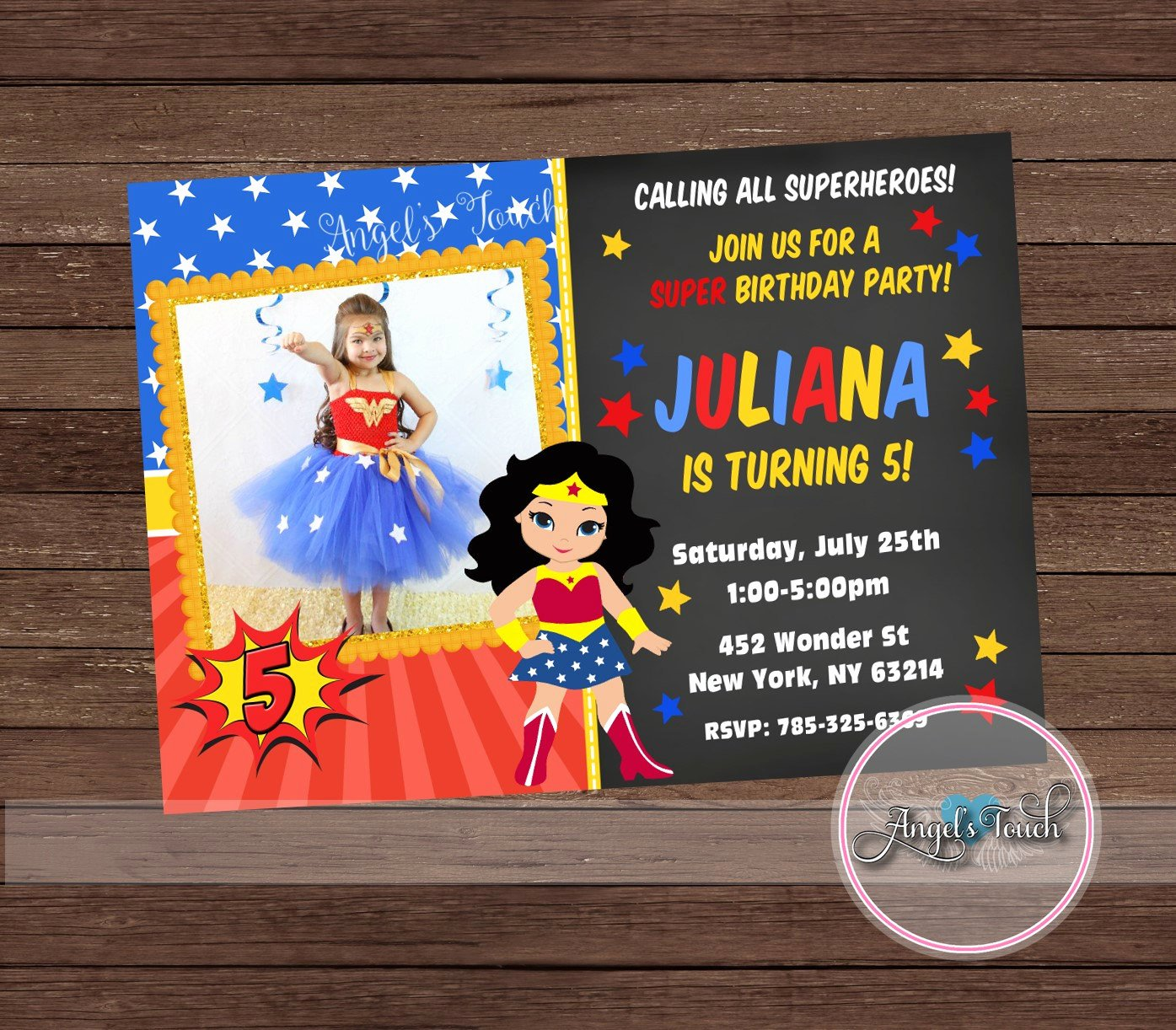 Wonder Woman Invitation Template Beautiful Wonder Woman Party Invitation Wonder Woman Invitation