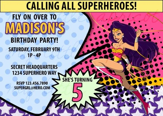 Wonder Woman Invitation Template Fresh 28 Best Images About Party Printables On Pinterest
