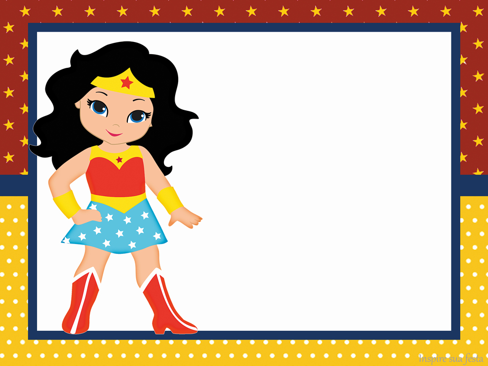 Wonder Woman Invitation Template Inspirational Wonder Woman Chibi Free Printable Invitations Oh My