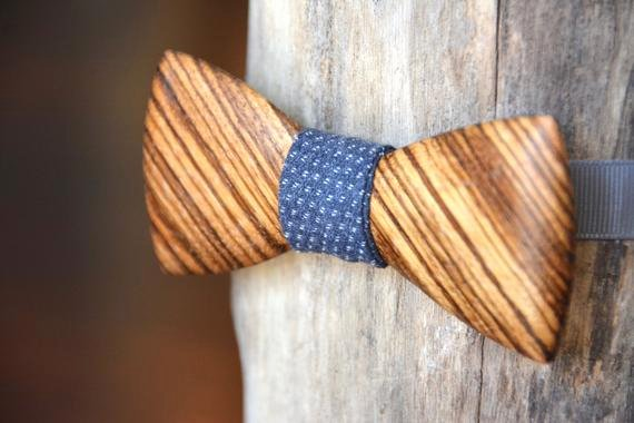 Wooden Bow Tie Template Elegant Exotic Wooden Bow Tie Zebrawood Wood by Crookedbranchstudio