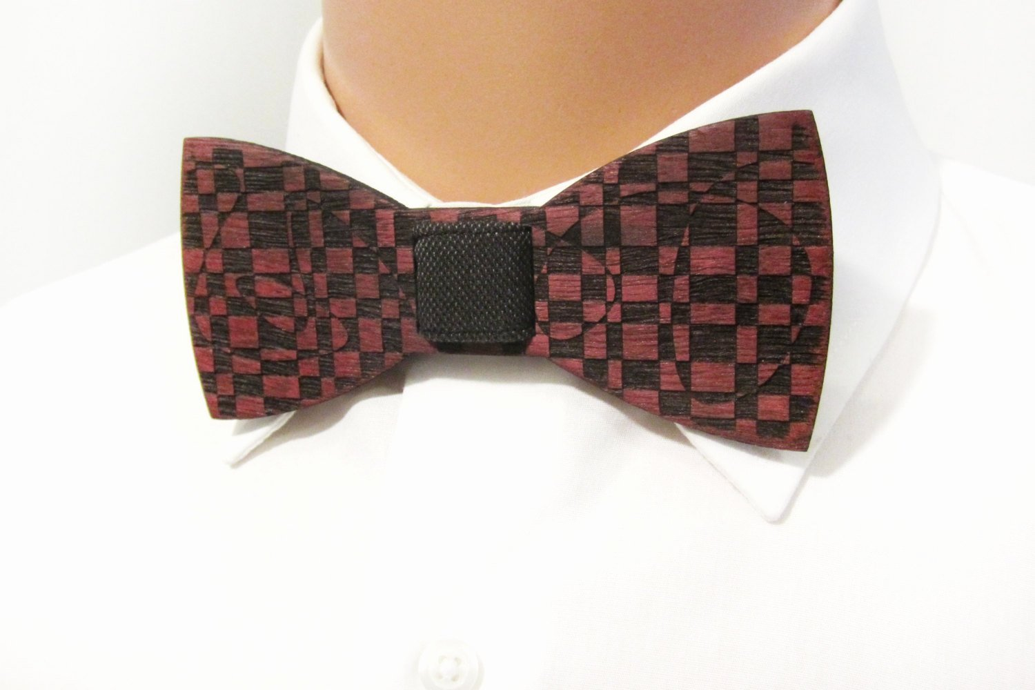 Wooden Bow Tie Template Elegant Wooden Bow Tie Checkers Purple Heart Wood Self Tie Bow