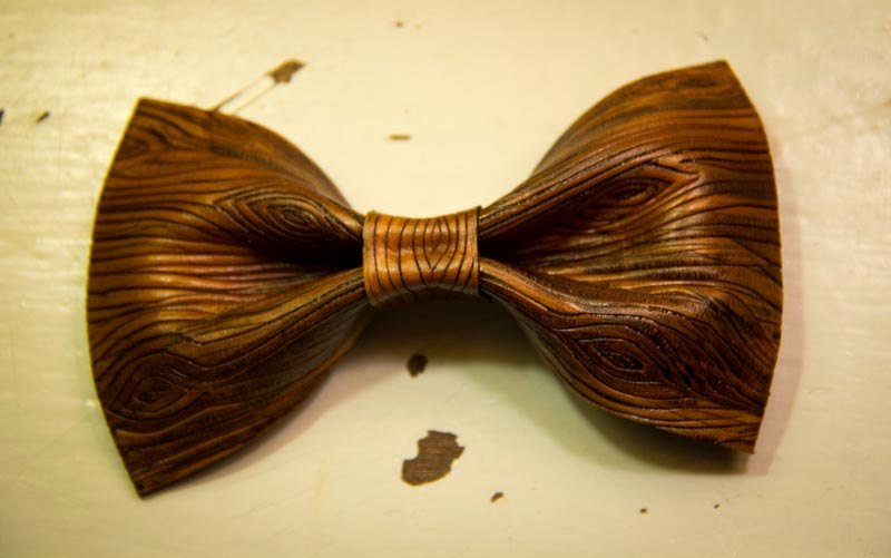 Wooden Bow Tie Template Inspirational original Brown Leather Woodgrain Carved Bow Tie by