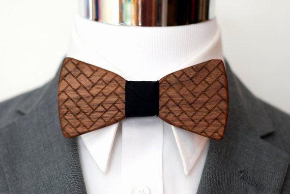 Wooden Bow Tie Template Luxury Herringbone Wood Bow Tie Wooden Bowtie Suits Wood Bowtie