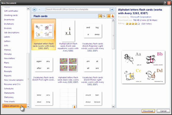 Word Flash Card Template Awesome How to Make Index Cards In Microsoft Word 2007