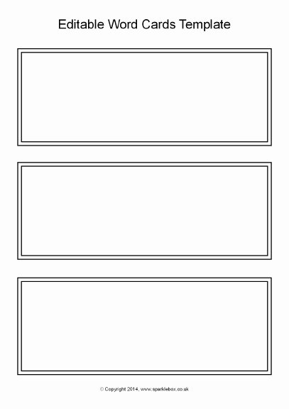 Word Flash Card Template New 21 Of Blank Task Cards Template Black and White