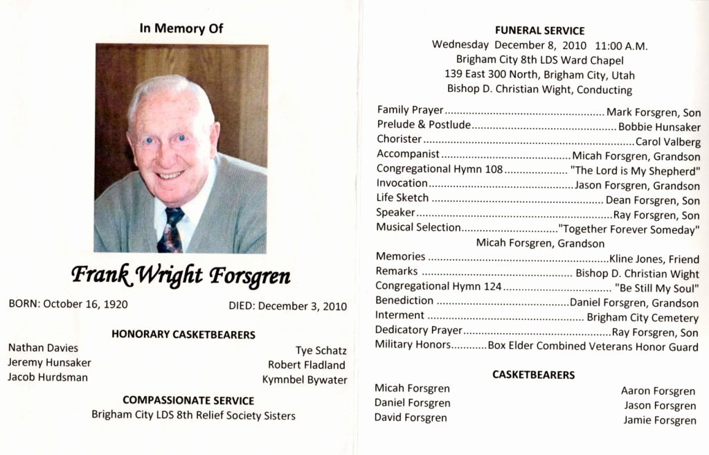 Word Funeral Program Template Beautiful Funeral Brochure Template Word How to Make A Funeral