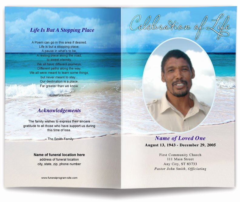 Word Funeral Program Template Best Of Free Editable Funeral Program Template