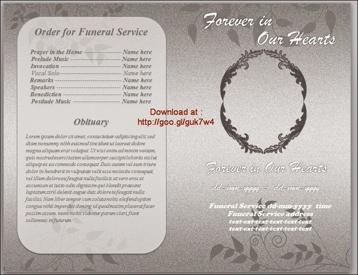 Word Funeral Program Template Elegant 74 Best Funeral Program Templates for Ms Word to Download