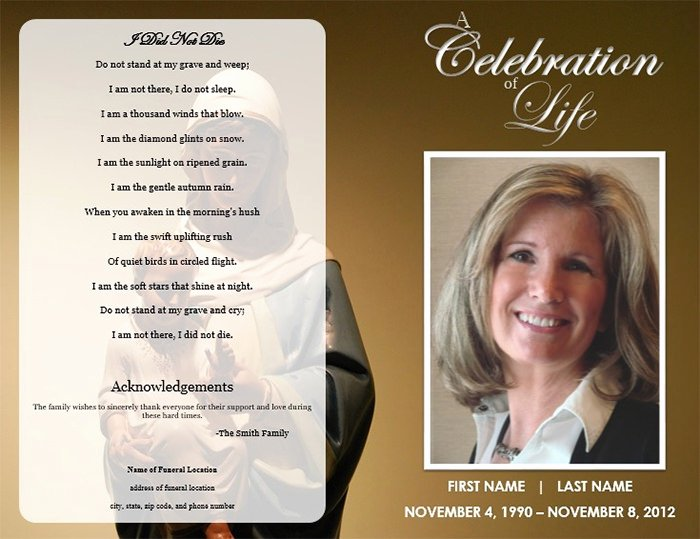 Word Funeral Program Template Fresh 25 Funeral Program Templates Pdf Psd