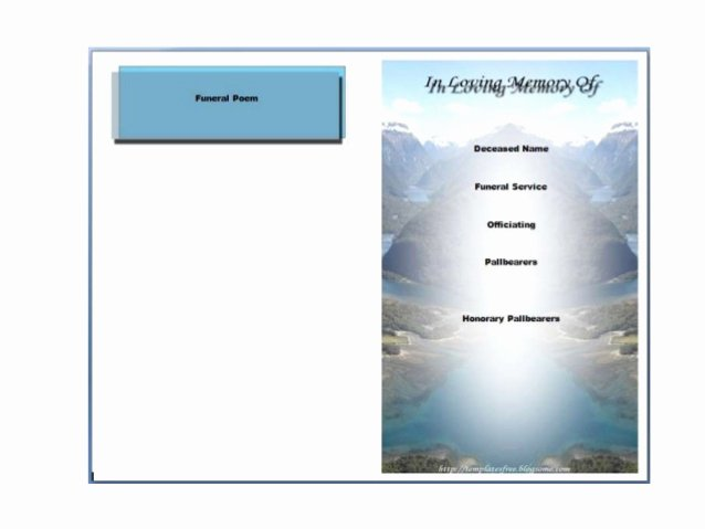 Word Funeral Program Template Fresh Free Printable Funeral Program Template for Word to Download