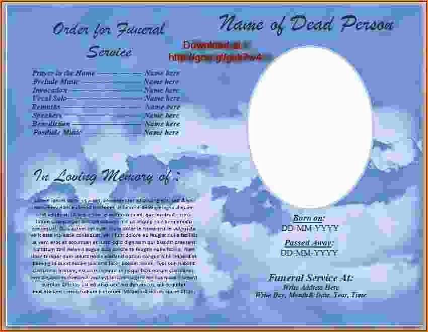 Word Funeral Program Template Inspirational 4 Funeral Program Template Word