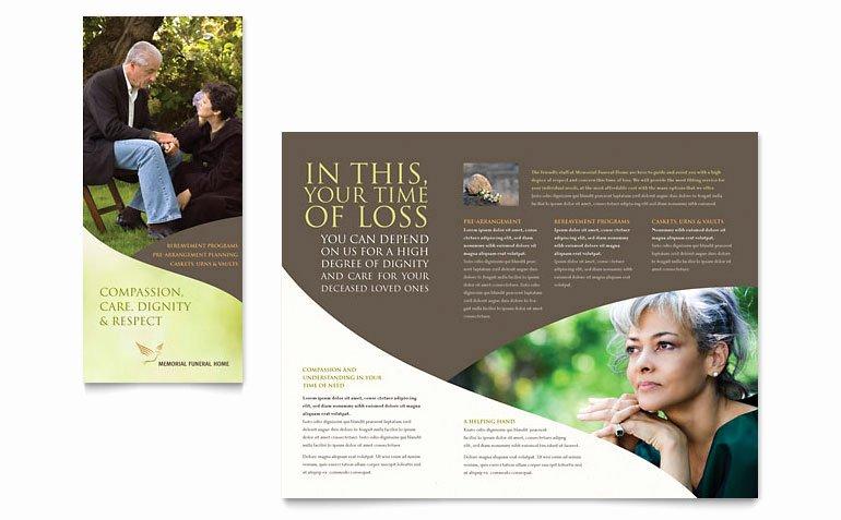 Word Funeral Program Template Inspirational Memorial & Funeral Program Brochure Template Word