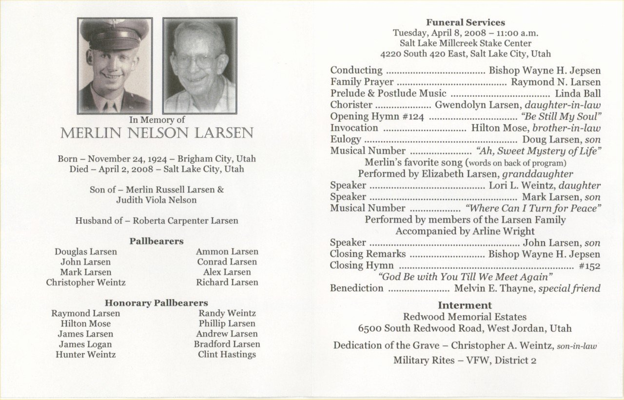 Word Funeral Program Template Lovely 6 Free Funeral Program Templates Excel Pdf formats