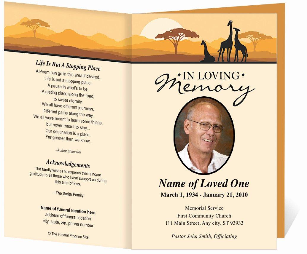 Word Funeral Program Template Luxury Free Funeral Program Template