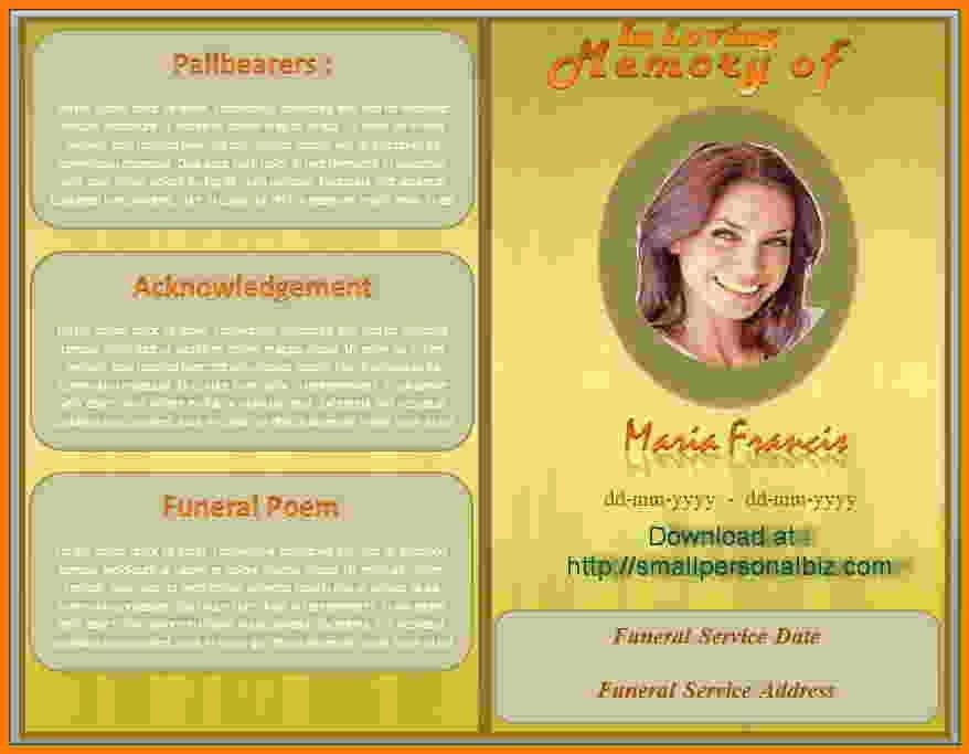 Word Funeral Program Template New Funeral Program Template Microsoft Sarahepps