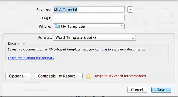 how to create an mla template in word and pages cms