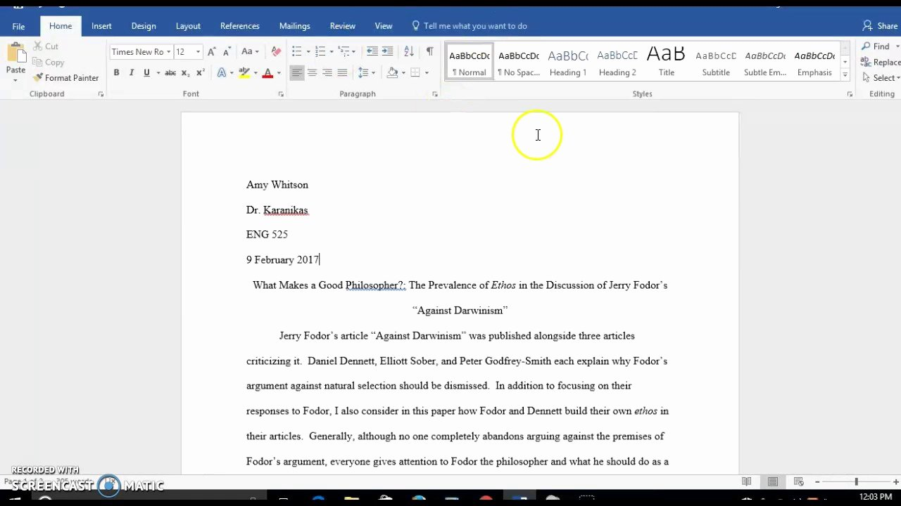 Word Mla format Template New How to Set Up Margins and Spacing In Mla format In Word