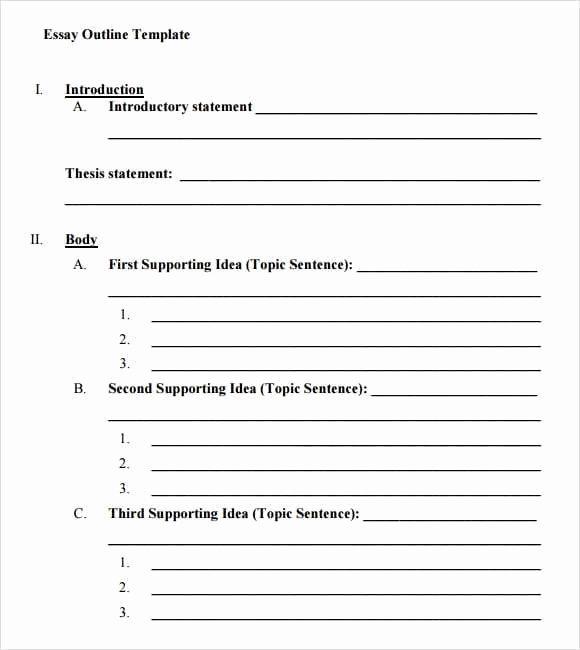 Word Mla format Template Unique 9 Essay Outline Templates Word Excel Pdf formats