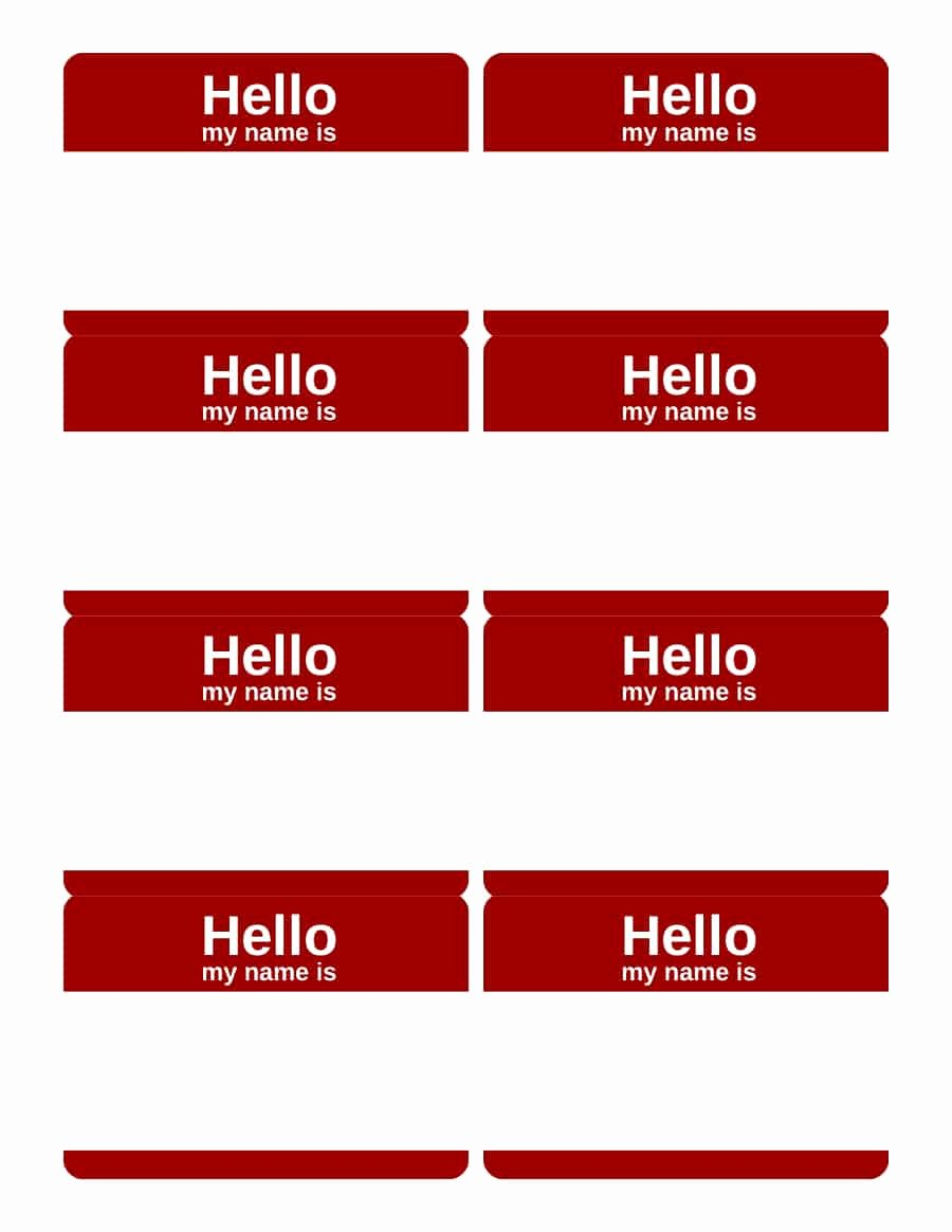 Word Name Tags Template Elegant 47 Free Name Tag Badge Templates Template Lab