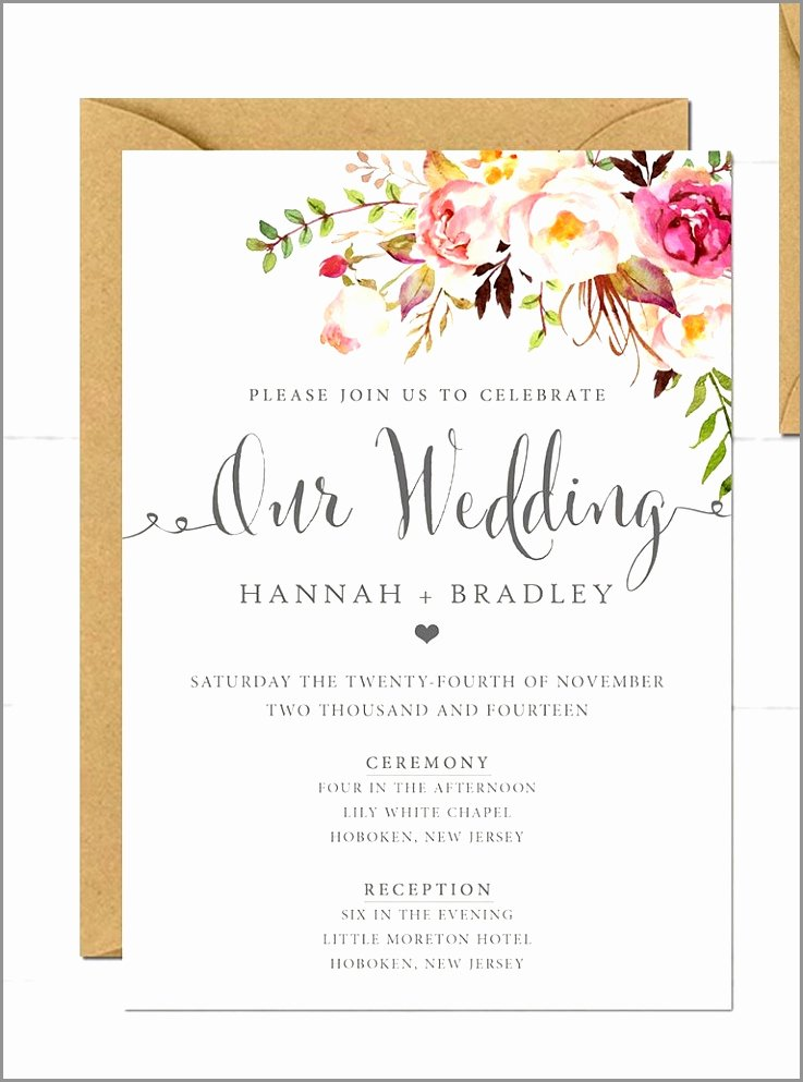 Word Template for Invitations Awesome 9 Digital Wedding Invitations Templates Wrcvi