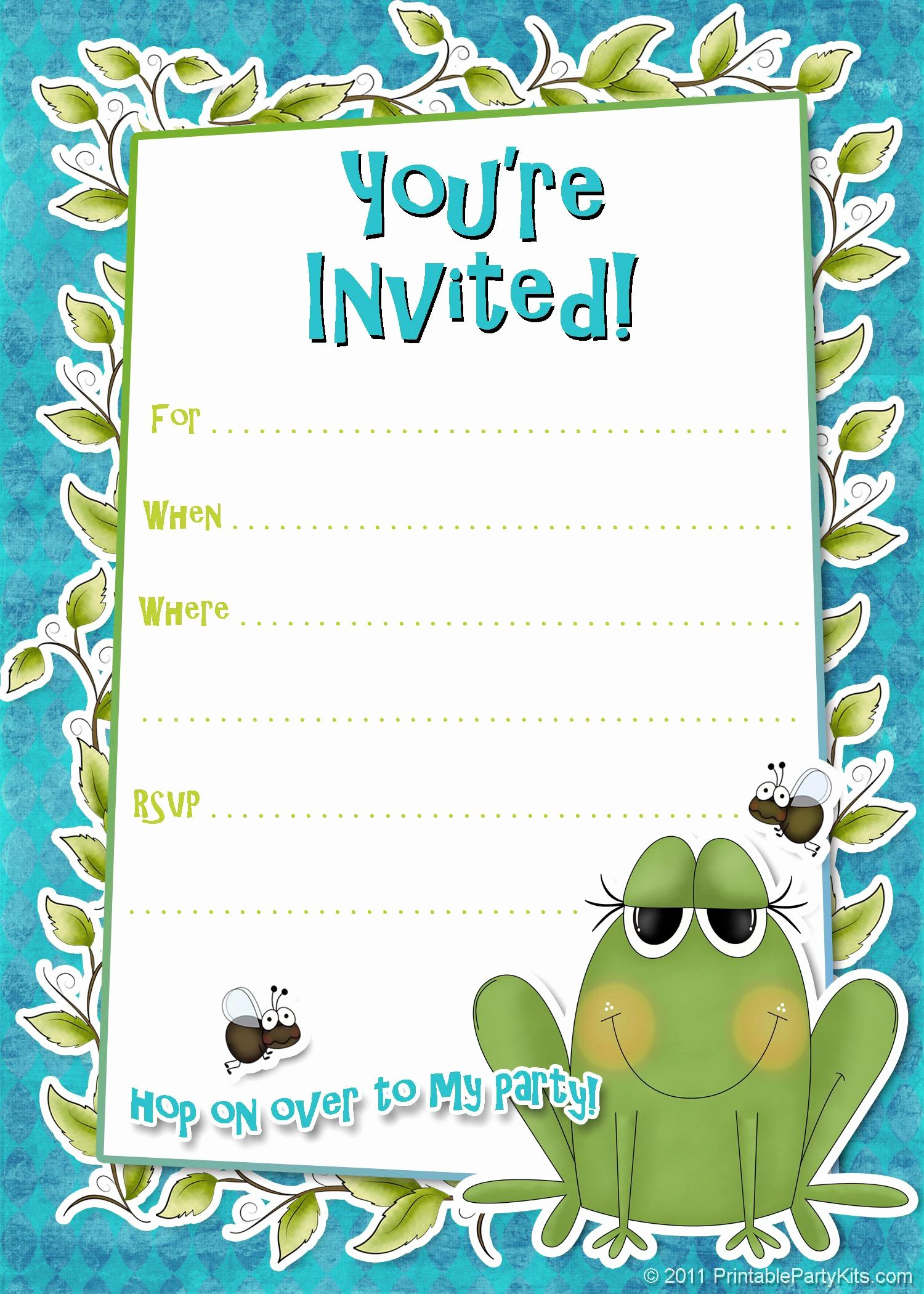 Word Template for Invitations Beautiful Birthday Party Invitation Template Birthday Party