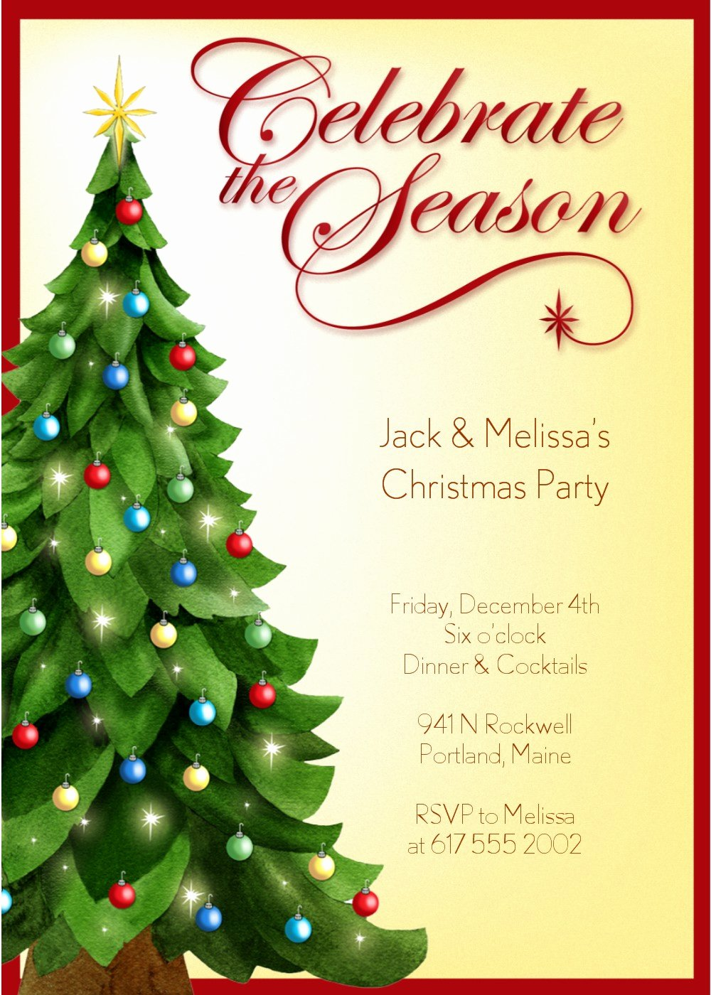 Word Template for Invitations Best Of Christmas Party Invitation Templates Free Word