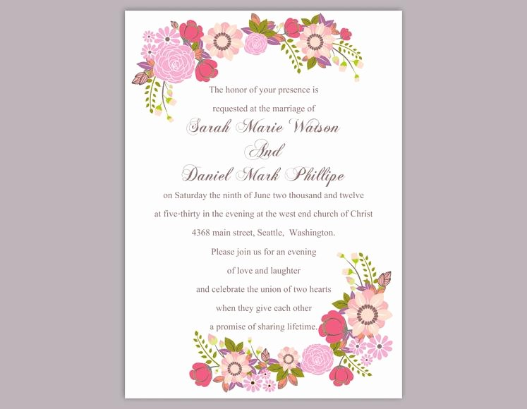Word Template for Invitations Best Of Floral Invitation Template – orderecigsjuicefo