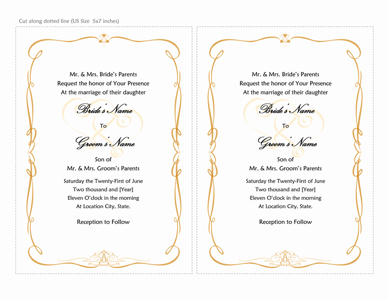Word Template for Invitations Best Of Microsoft Word 2013 Wedding Invitation Templates