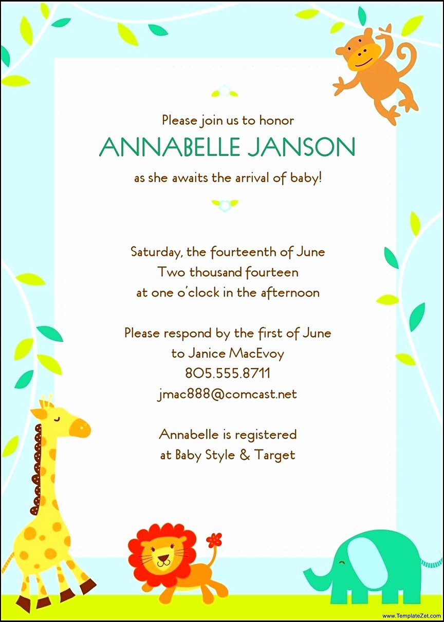 Word Template for Invitations Inspirational Baby Shower Template Word Mughals