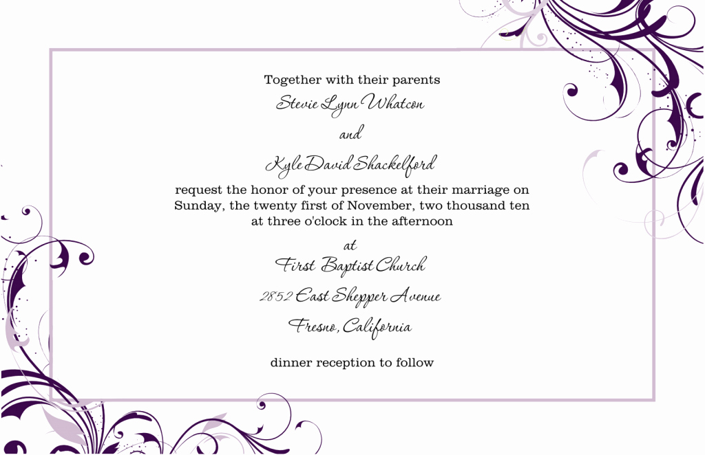 Word Template for Invitations New 8 Free Wedding Invitation Templates Excel Pdf formats