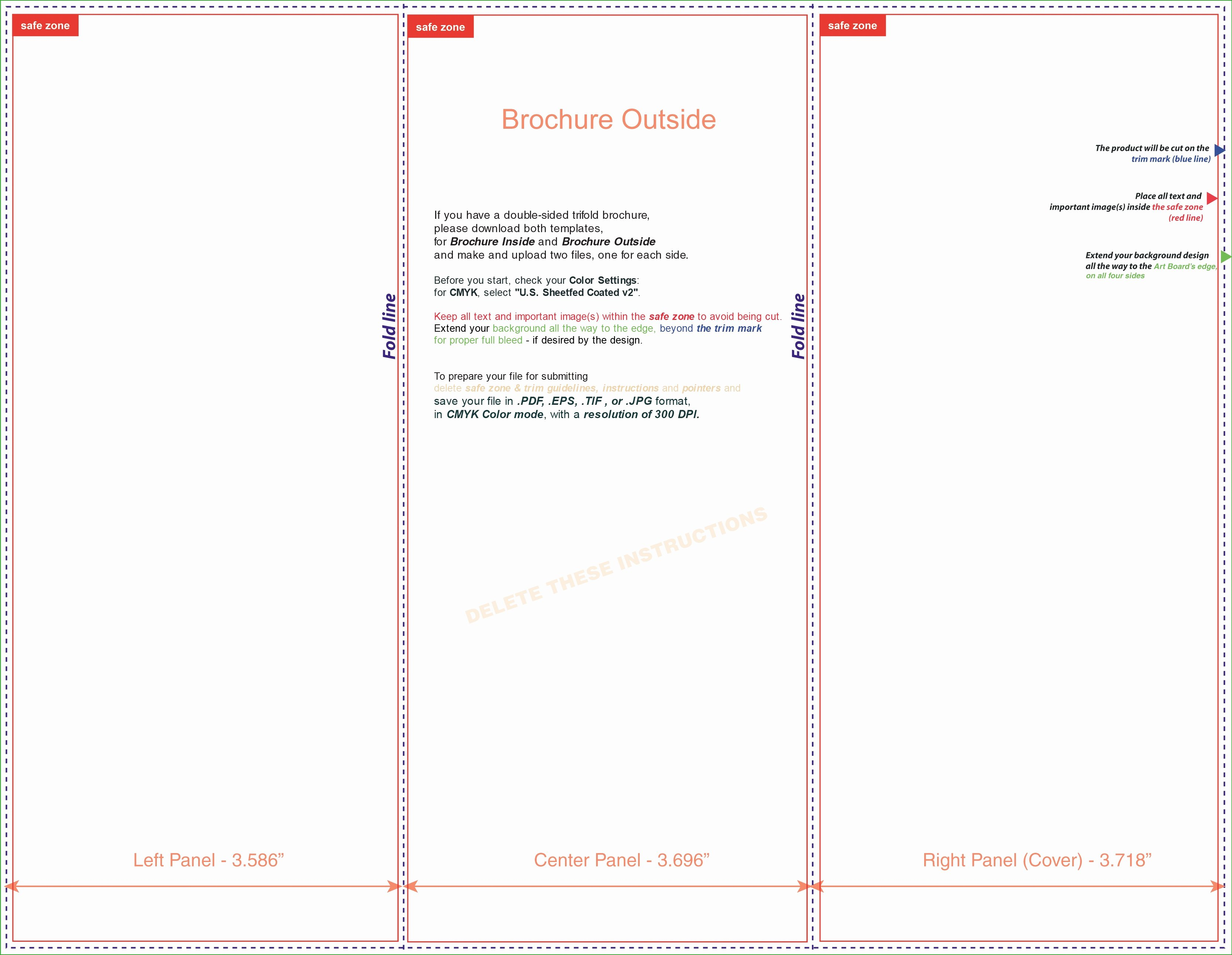 Word Trifold Brochure Template Beautiful Tri Fold Brochure Template Microsoft Word