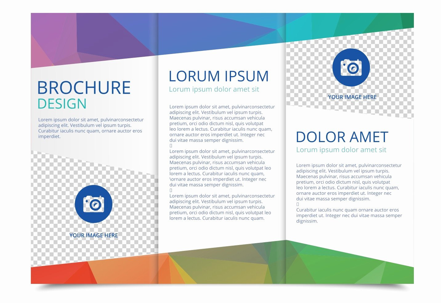 Word Trifold Brochure Template Beautiful Tri Fold Brochure Vector Template Download Free Vector