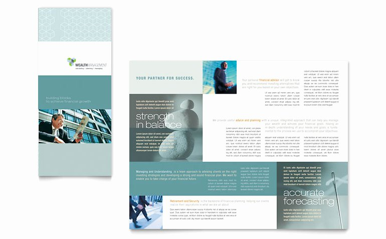 Word Trifold Brochure Template Fresh Wealth Management Services Tri Fold Brochure Template