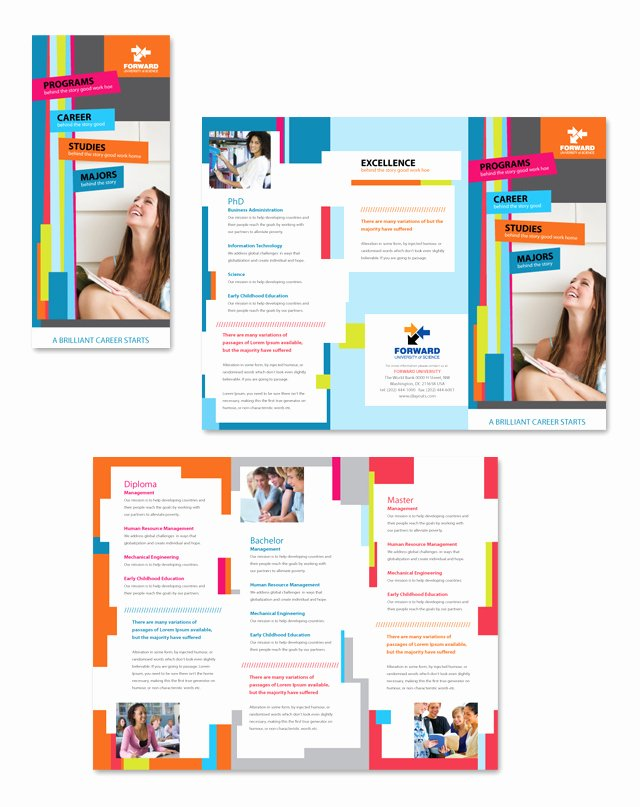Word Trifold Brochure Template New Microsoft Tri Fold Brochure Template Microsoft Word