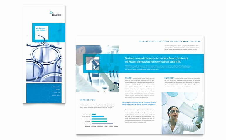 Word Trifold Brochure Template New Science & Chemistry Tri Fold Brochure Template Word
