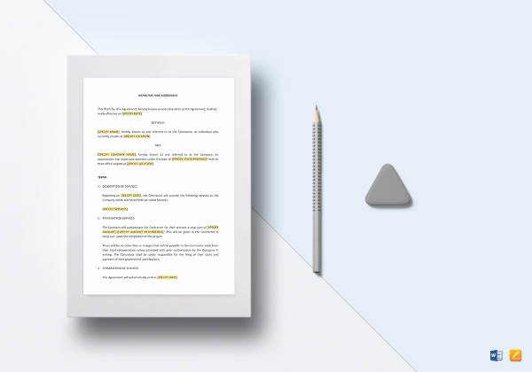 Work for Hire Template New Work Agreement Template 10 Free Word Pdf Documents
