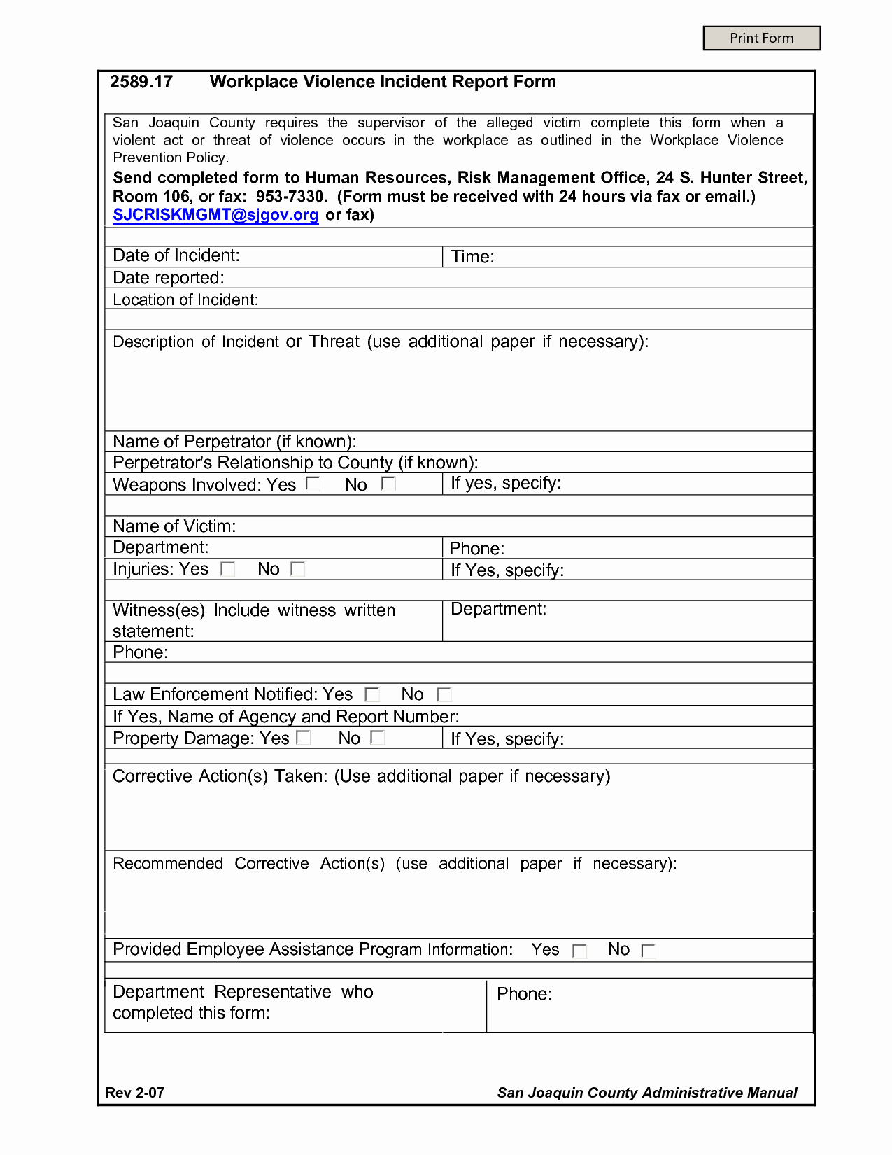 Work Incident Report Template Beautiful Best S Of Work Incident Report form Workplace