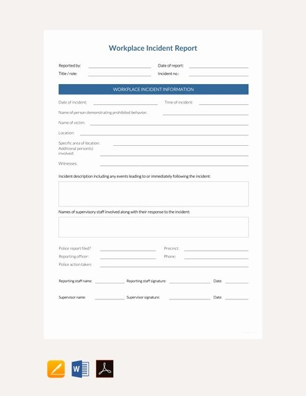 Work Incident Report Template Fresh 42 Incident Report Examples & Samples Pdf Doc Pages