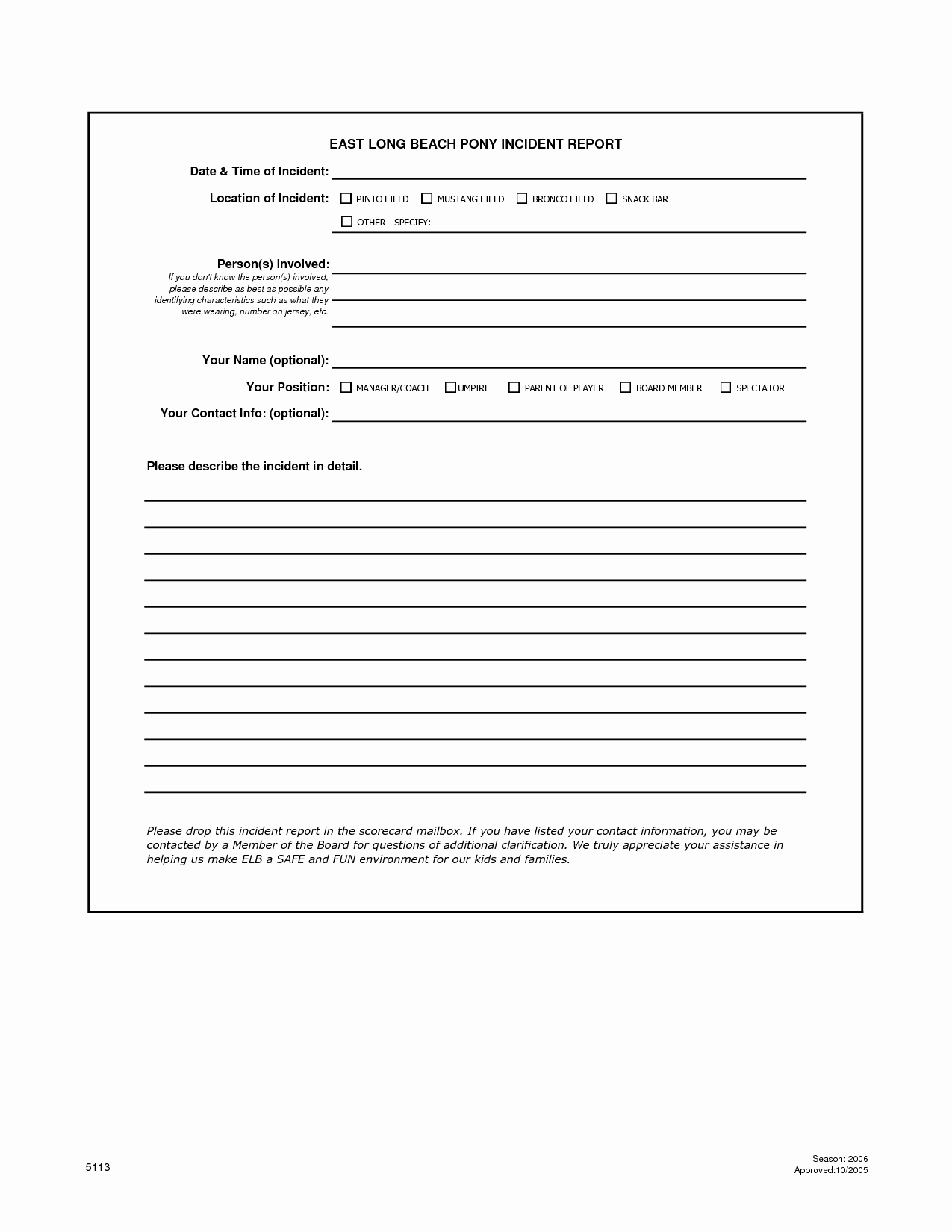 Work Incident Report Template Luxury Best S Of Work Incident Report form Workplace