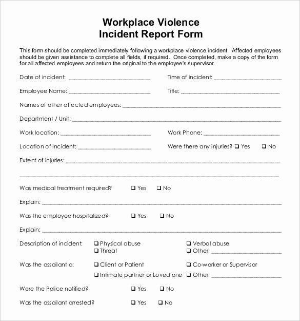 Work Incident Report Template New 26 Incident Report Templates Free Pdf Word format