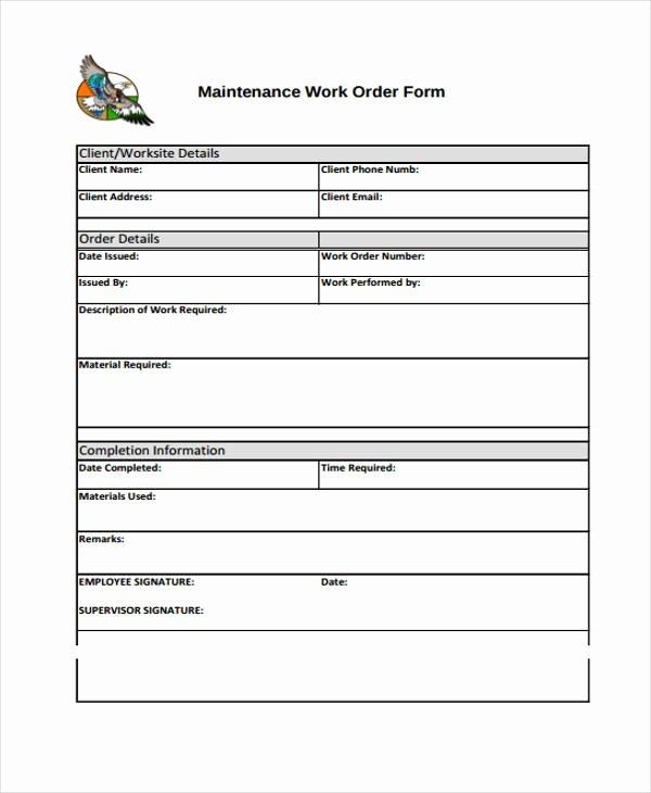 Work order Template Free Elegant 10 Work order Templates Pdf Apple Pages