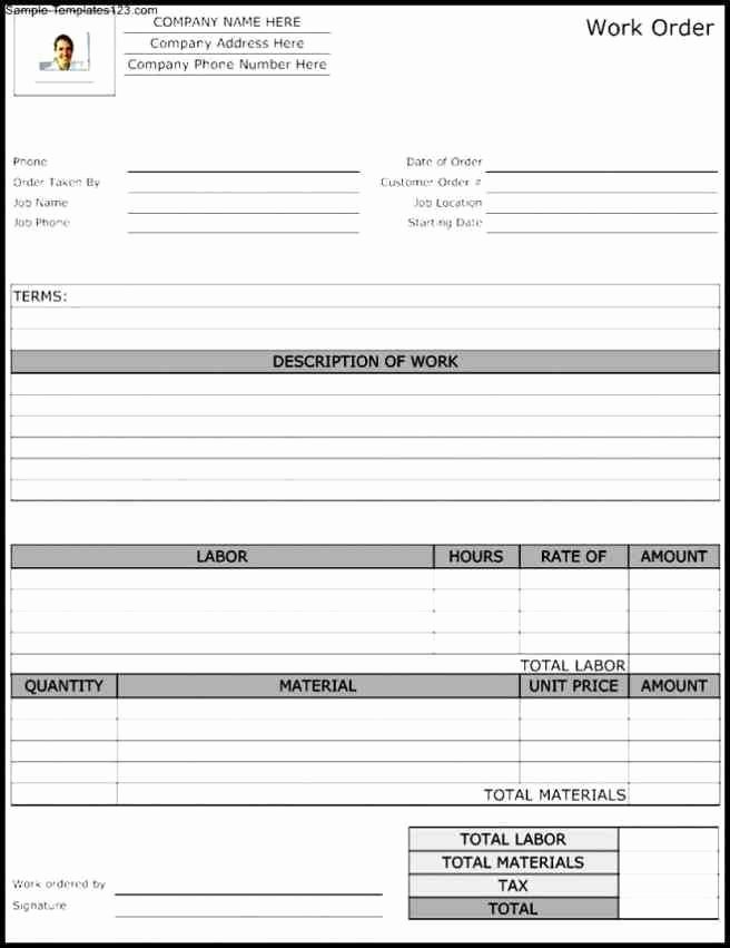 Work order Template Word Beautiful order form Template Word Purchase order Template Itinerary