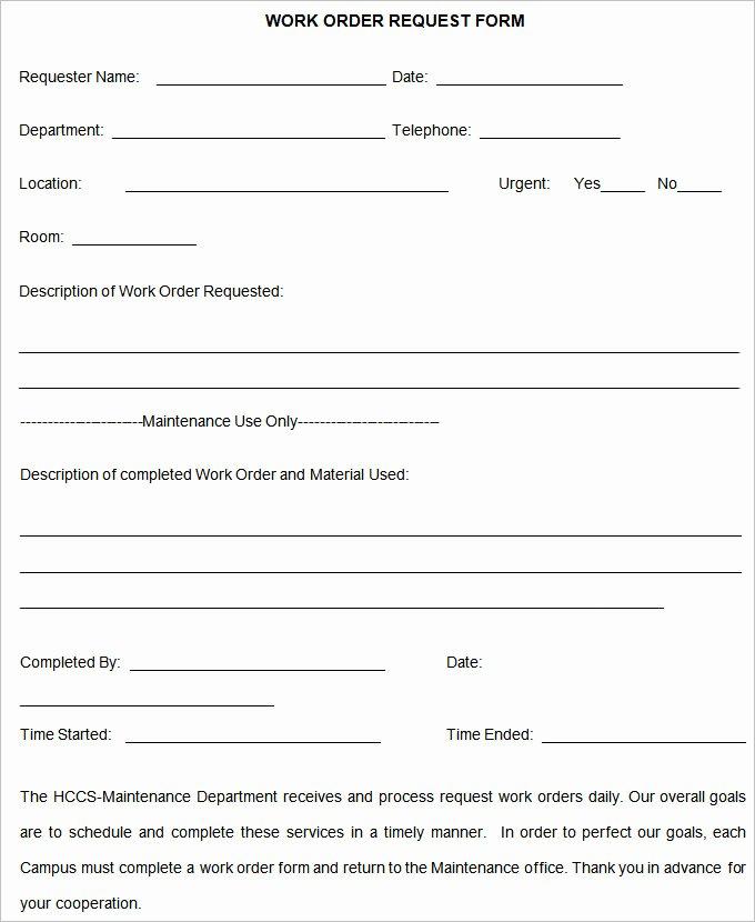 Work order Template Word Beautiful Work order Template – 20 Free Word Excel Pdf Document