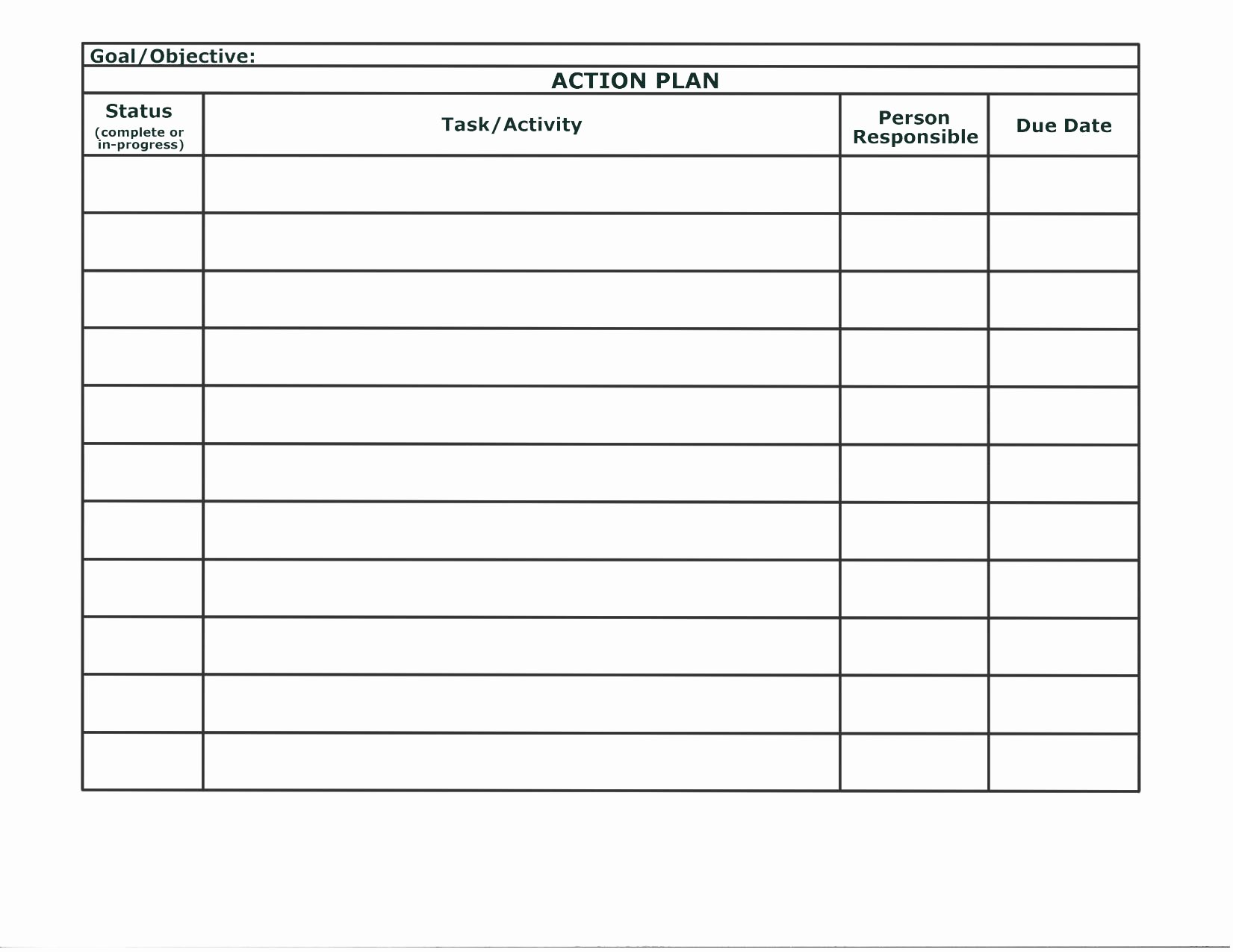 Work Plan Template Word Elegant Stunning General Action Plan Template Word Examples Thogati