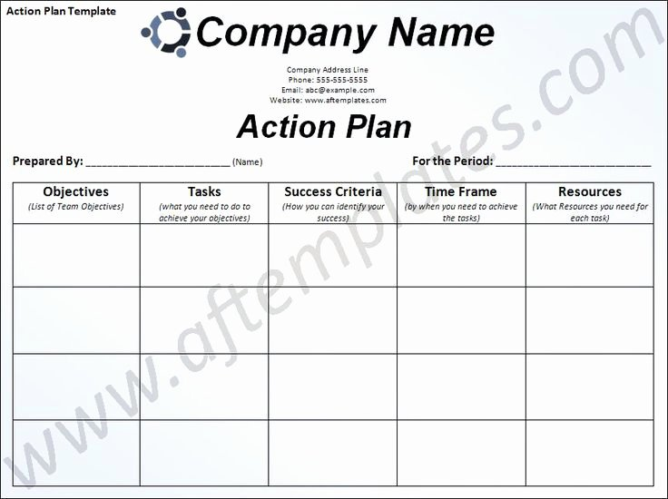 Work Plan Template Word New Free Business Action Plan Template