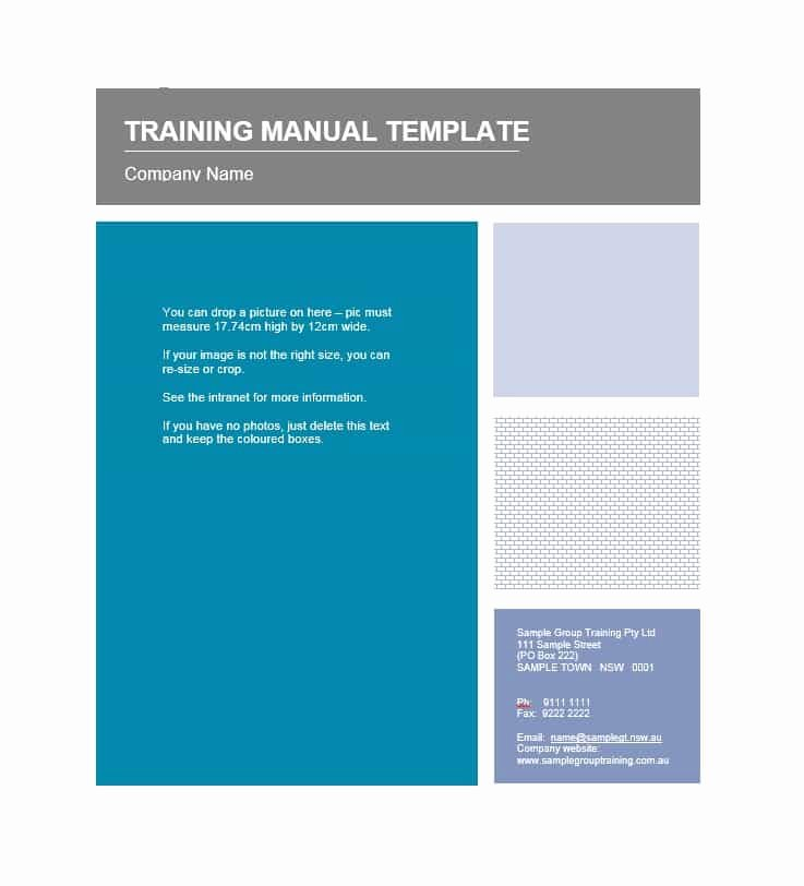 Workbook Template Microsoft Word Elegant Training Manual 40 Free Templates & Examples In Ms Word
