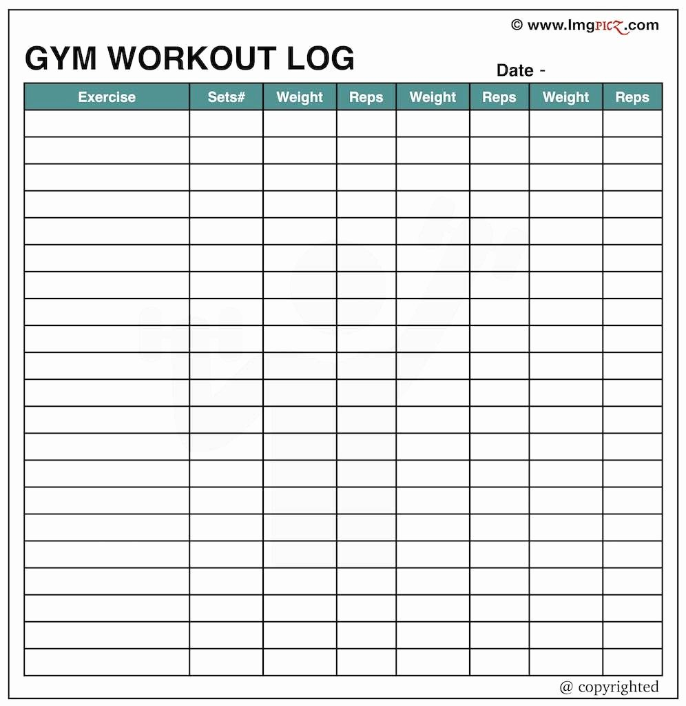 Workout Log Template Excel Awesome Excel Workout Spreadsheet