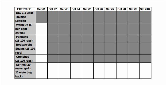 Workout Log Template Excel Inspirational Workout Log Template – 14 Free Word Excel Pdf Vector
