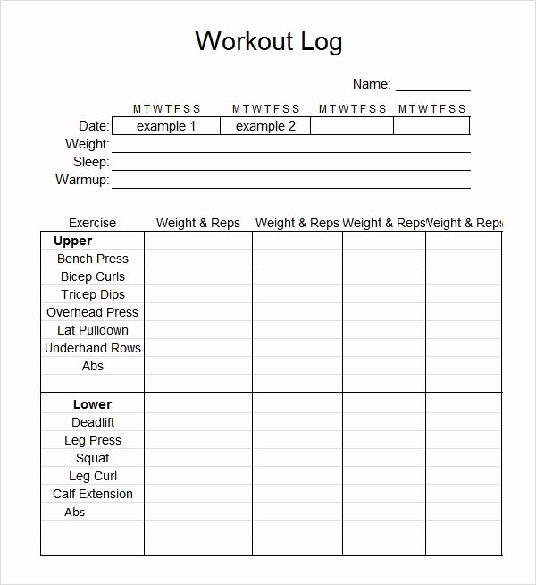 Workout Log Template Excel Luxury Workout Log Template Excel Invitation Template